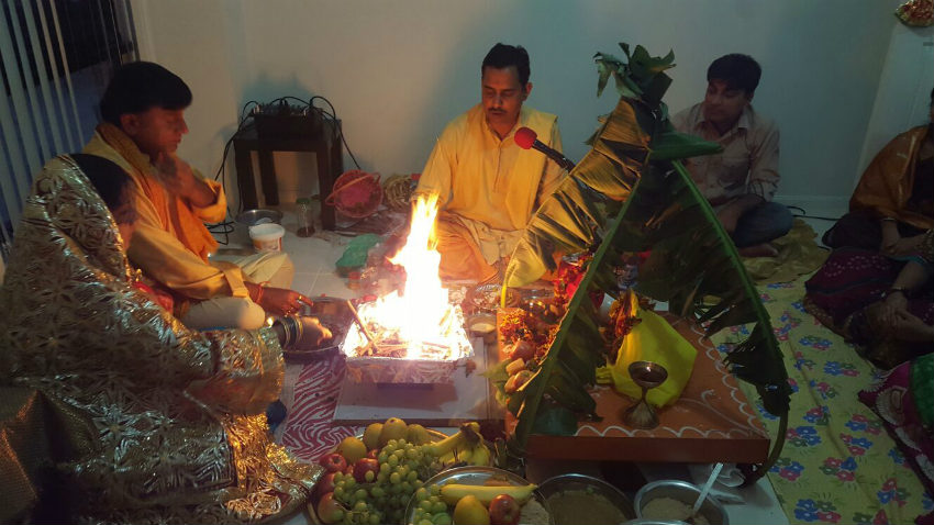 Vishnu-havan-by Hindu-Priest-Acharya-Prem_Bhatt-in- Melbourne